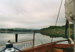 The mooring at Connel Bridge