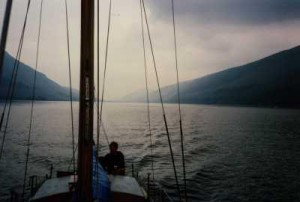 Motoring in Loch Lochy